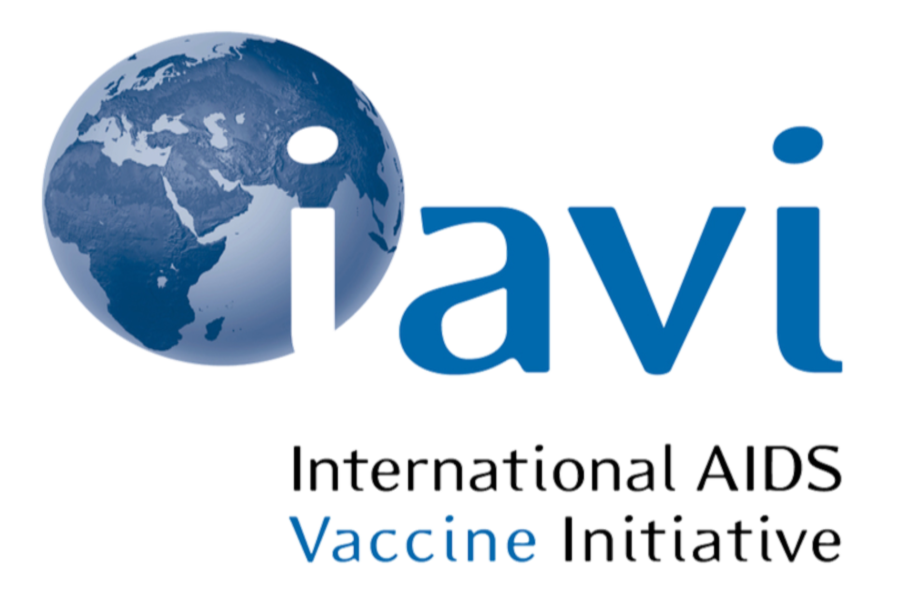 International AIDS Vaccine Initiative Logo of blue globe behind a white i, with a v i spelled out in blue